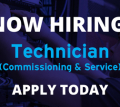 Apply now! We're looking for a Technician (Service / Commissioning) to join our team