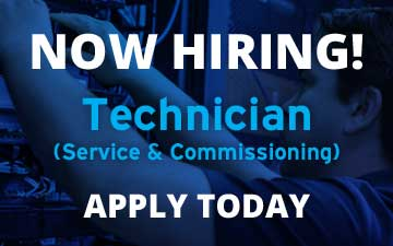 Apply Now! We're looking for an experienced Service & Commissioning Technician!